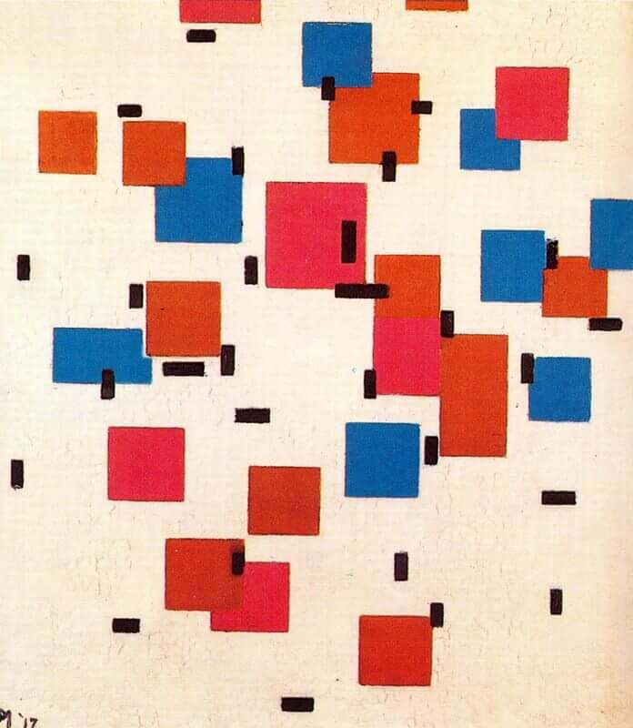 Composition in color a 1917 - by Piet Mondrian