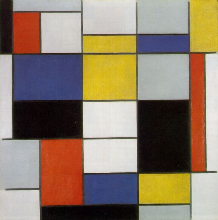 Composition No.II 1920 by Piet Mondrian