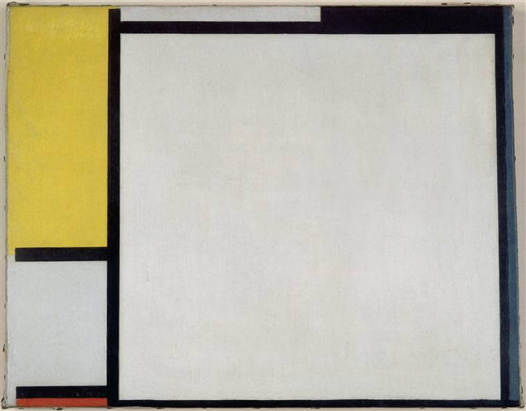 Composition with red yellow and blue 1922 - by Piet Mondrian