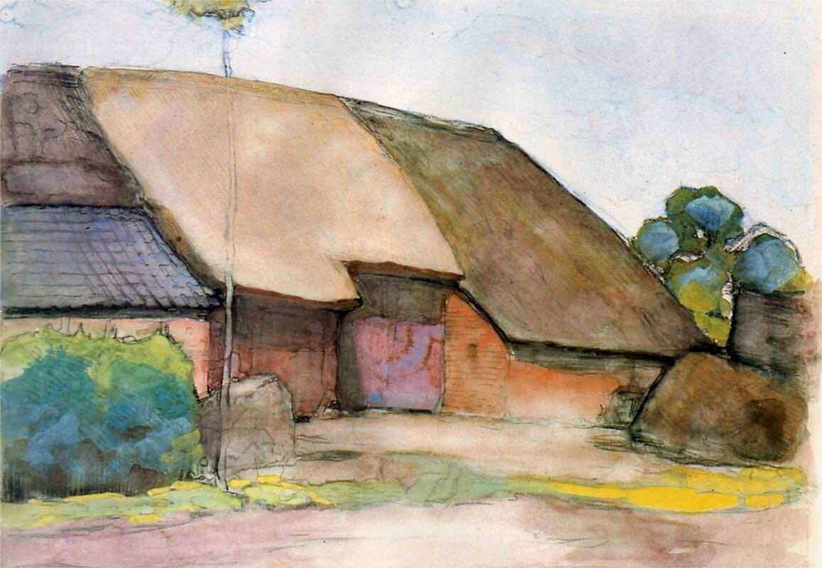 Farm sun - by Piet Mondrian