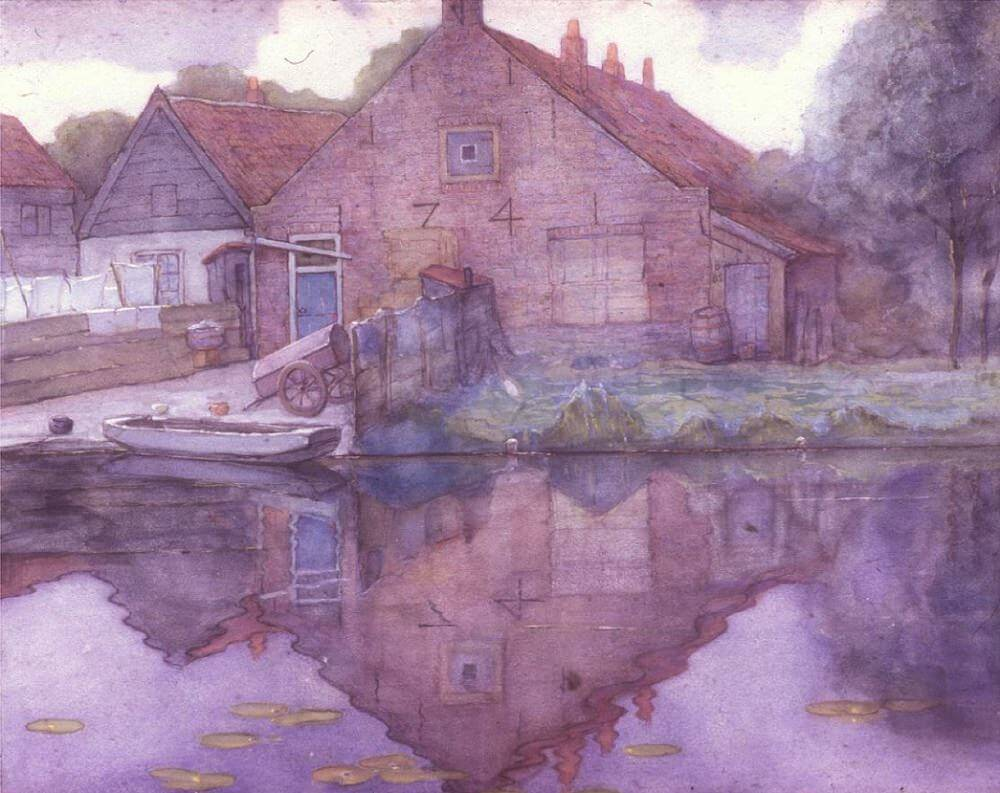 Houses on the Gein, 1900 by Piet Mondrian