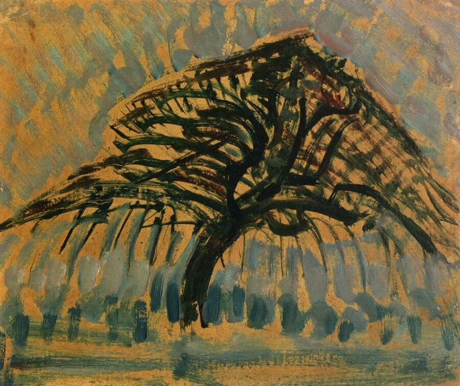 Study for Blue Apple Tree, 1908 by Piet Mondrian