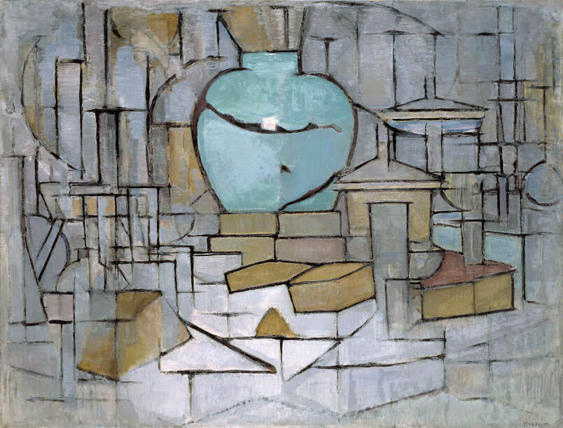 The Still Life with Gingerpot II, 1912 by Piet Mondrian