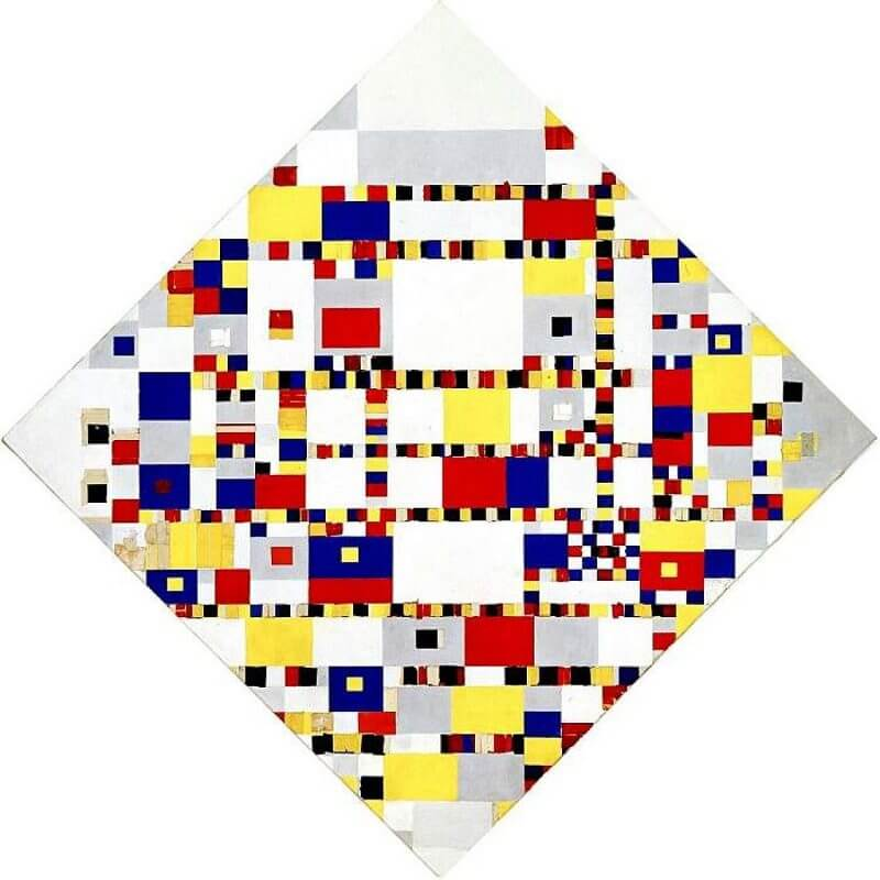 Victory Boogie-Woogie, 1944 by Piet Mondrian