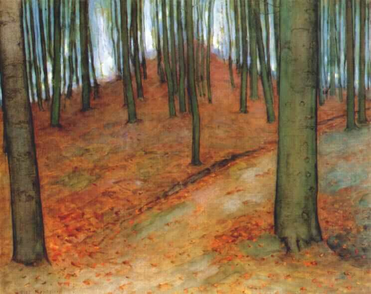 Wood with Beech Trees, 1899 - by Piet Mondrian